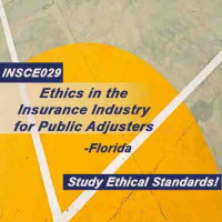 Florida - ETHICS IN THE INSURANCE INDUSTRY FOR PUBLIC ADJUSTERS (available to ALL adjusters and agents as an Elective course) (INSCE029FL8)